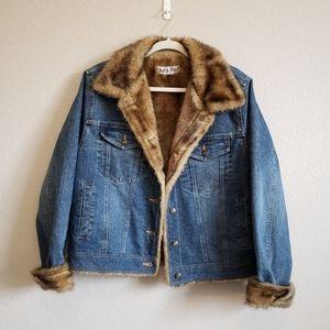 Marvin Richard's Fur Lined Jean Jacket
